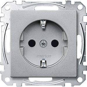 System M, Steckdoseneinsatz, aluminium MERTEN MEG2300-0460