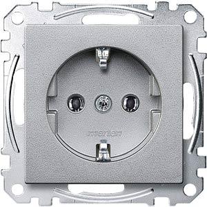 System M, Steckdose, CEE 7/3 - Typ F, aluminium, edelmatt MERTEN MEG2301-0460