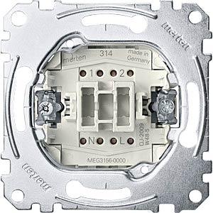 Button insert — 1-pin, 10A/250V, changeover MERTEN MEG3156-0000