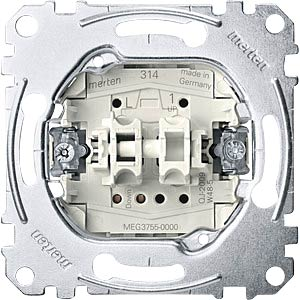 Shutter button insert — 1-pin, 10A/ 250V MERTEN MEG3755-0000