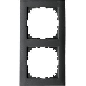 M-PURE frame — 2-gang, anthracite MERTEN MEG4020-3614