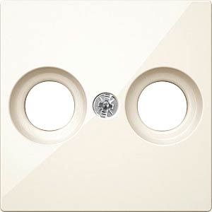 Central plate for aerial sockets — System M, white, glossy MERTEN MEG4122-0344