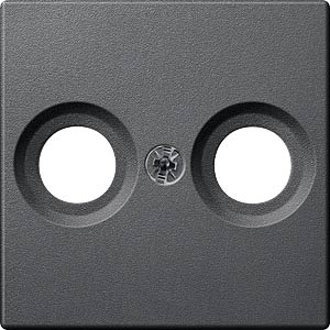 Zentralplatte - System M, 2er TV/Radio, anthrazit MERTEN MEG4122-0414