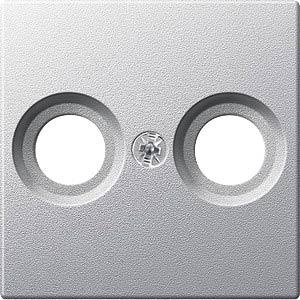 System M, Zentralplatte, Antennendose, aluminium, edelmatt MERTEN MEG4122-0460