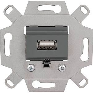 USB connection socket insert — 1-gang, light grey MERTEN MEG4581-0000