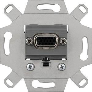 VGA connection socket insert — 1-gang, light grey MERTEN MEG4585-0000