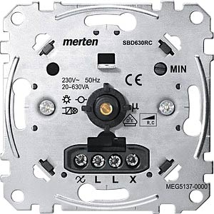 Rotary dimmer insert — for capacitive load, 20 - 630 W MERTEN MEG5137-0000