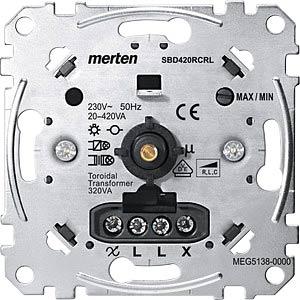 Universal-Drehdimmer-Einsatz - 20-420 W/VA MERTEN MEG5138-0000