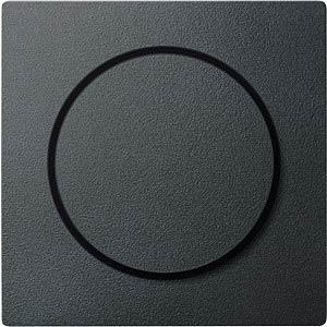 Zentralplatte - System M, Drehknopf, anthrazit MERTEN MEG5250-0414