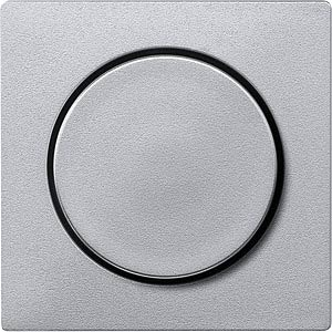 Zentralplatte - System M, Drehknopf, aluminium MERTEN MEG5250-0460