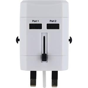 Reise-Adapter World USB ohne Schutzkontakt FREI