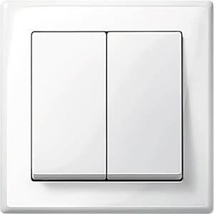Series switch set — M-Smart, polar white, glossy MERTEN