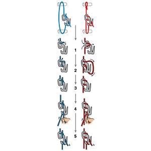 Figure9, silber, Größe L, nie mehr Knoten GEAR TIE NI-F9L-02-09