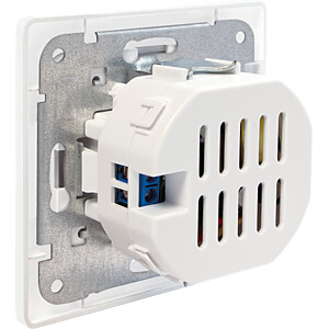 Flush-mounted box with 2 USB charging sockets LOGILINK PA0163