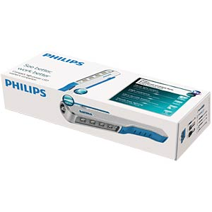 LED-Arbeitsleuchte Premium, 145 lm, 1800 mAh, silber / blau PHILIPS 39220394