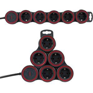 Steckdosenleiste, Supraflex, 5-fach, 1,5 m, schwarz REV RITTER 0015520515