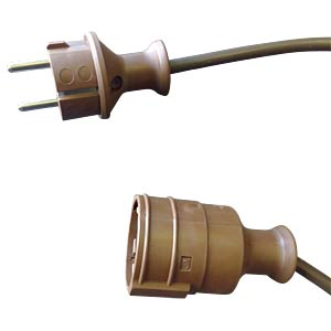 5-m extension lead, brown FREI