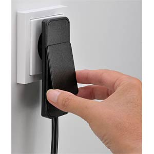 SmartPlug three-way socket outlet, black FREI