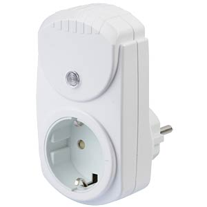 Plug with surge protection, white KOPP 470202016