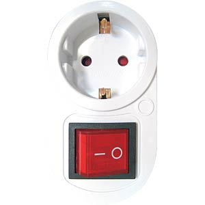 Earthed plug adapter, with 2-pole switch FREI