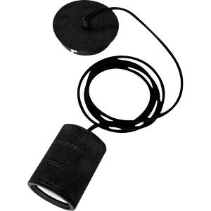 Lampenfassung Pendel, E40, schwarz SYNERGY 21 S21-LED-001073