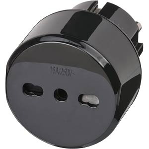 TRA IT SK - Travel Adapter Italien/Schutzkontakt