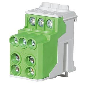 Sub-distribution terminal block, green, 2x25 mm² + 6x10 mm² F-TRONIC 7110208