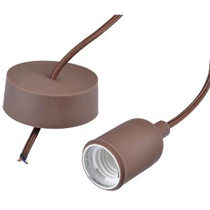 Design Pendand Lightholder with fabric cord, brown VELLIGHT LAMPH01BR