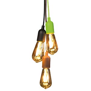 Design Pendant Lampholder with fabric cord, green VELLIGHT LAMPH01GR