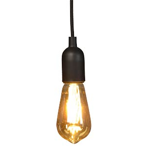 Lampenfassung Pendel, E27, Silikon, schwarz VELLIGHT LAMPH01B