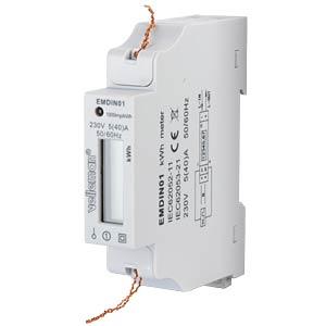 Energiezähler 1 Phase, LCD Display VELLEMAN EMDIN01