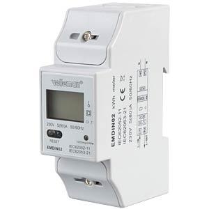 Energiezähler, 1-phasig, LCD Display VELLEMAN EMDIN02