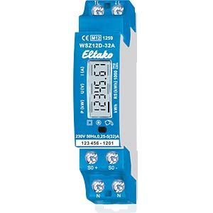 Single-phase energy meter - MID approved, 32 A ELTAKO WSZ12D-32A