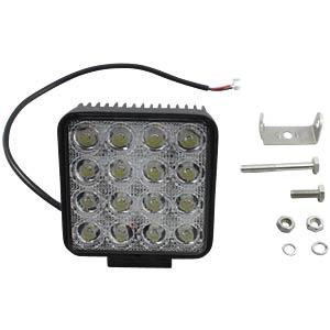 LED-Scheinwerfer, 48 W, 3600 lm, 12 - 24 V, schwarz FREI