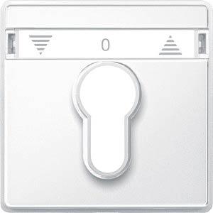 Aquadesign Schlüssel-Abdeckung, Rollladenschalter, polarweiß MERTEN 348219