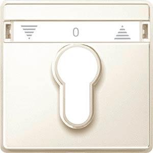 Zentralplatte Rollladen-Tast-Rastschalter - Aquadesign, weiß MERTEN 348244