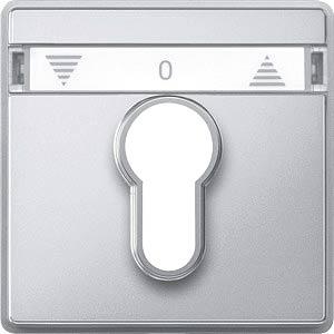 Zentralplatte Rollladen-Tast-Rastschalter - Aquadesign, aluminiu MERTEN 348260