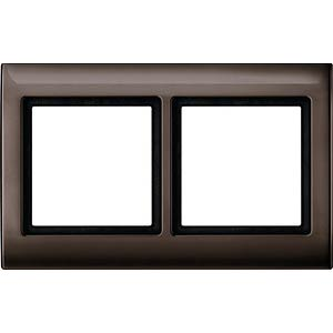 Aquadesign-Rahmen - 2-fach, dunkelbrasil MERTEN 400215