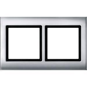 Aquadesign, Rahmen, 2-fach, aluminium MERTEN 400260
