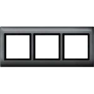 Aquadesign-Rahmen - 3-fach, anthrazit MERTEN 400314