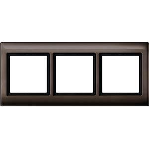 Aquadesign-Rahmen - 3-fach, dunkelbrasil MERTEN 400315