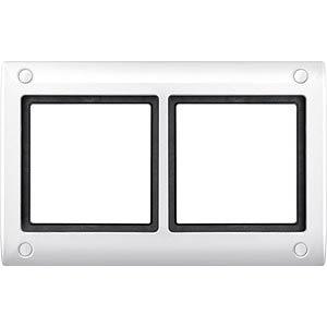 Aquadesign-Rahmen - 2-fach, verschraubbar, pw MERTEN 401219