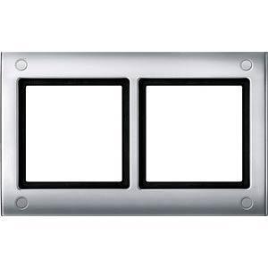 Aquadesign, Rahmen, 2-fach, verschraubbar, aluminium MERTEN 401260