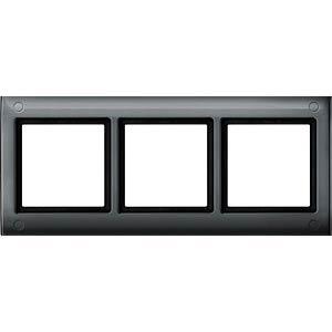 Aquadesign-Rahmen - 3-fach, verschraubbar, anthr. MERTEN 401314