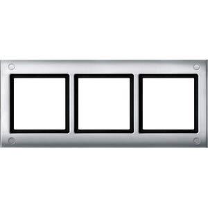 Aquadesign, Rahmen, 3-fach, verschraubbar, aluminium MERTEN 401360