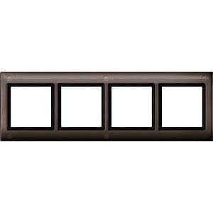 Aquadesign-Rahmen - 4-fach, verschraubbar, dunkelbrasil MERTEN 401415
