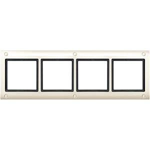 Aquadesign-Rahmen - 4-fach, verschraubbar, ws MERTEN 401444