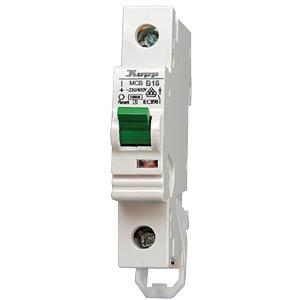 Sicherungsautomat 16A, 1pol., Charak. B KOPP 721600004