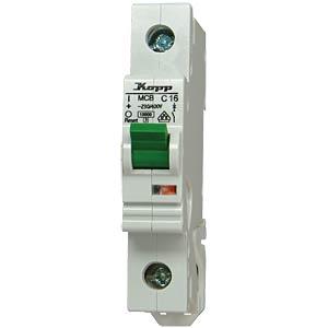 Automatic circuit breaker, 16 A, 1-pin, characteristic C KOPP 721601005