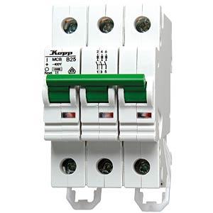 Automatic circuit breaker, 25 A, 3-pin, characteristic B KOPP 722530003